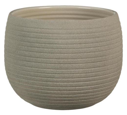 ÜBERTOPF - Taupe, Basics, Keramik (16/12/16cm)