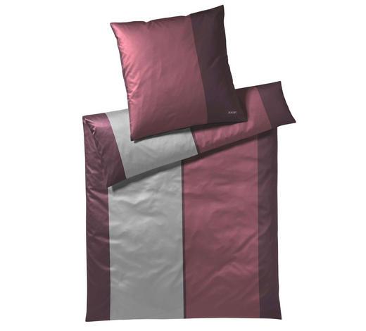 Bettwasche Makosatin Aubergine Grau Rot 155 220 Cm Online Kaufen