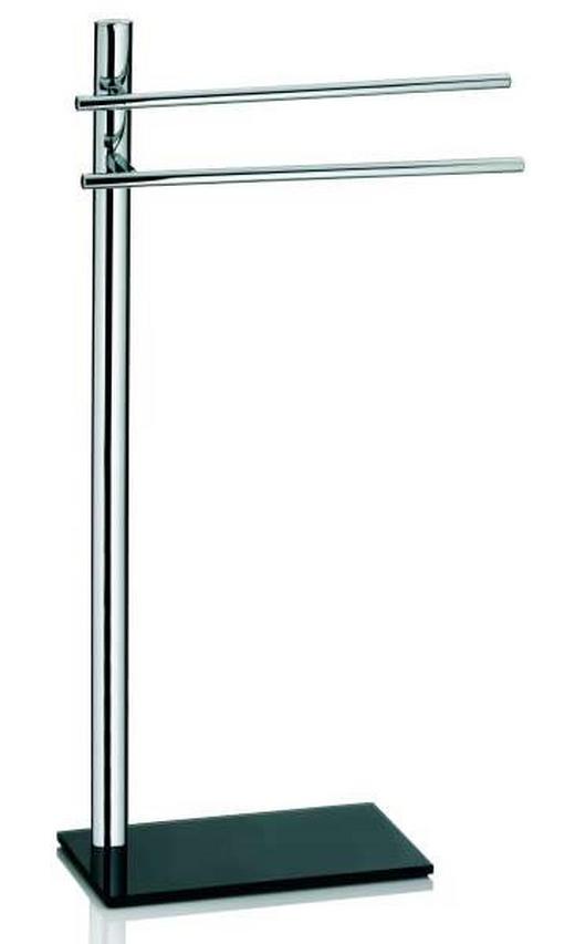 HANDTUCHHALTER Schwarz - Schwarz, Basics, Metall (35/87/20cm)