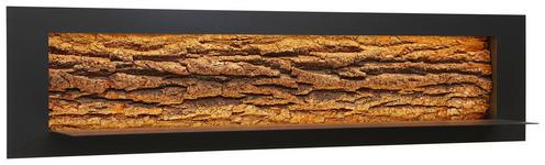 WANDPANEEL Kerneiche vollmassiv gebürstet, gewachst, lackiert, matt Anthrazit, Eichefarben - Eichefarben/Anthrazit, Design, Holz/Metall (141/33,5/29cm) - VALNATURA