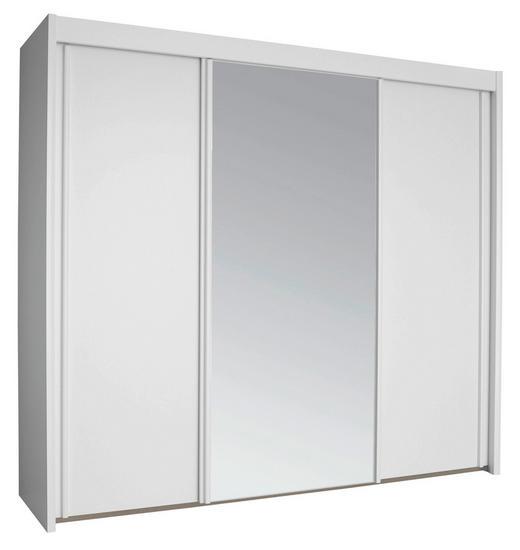 SCHWEBETÜRENSCHRANK 3-türig Weiß - Weiß, KONVENTIONELL, Glas/Holzwerkstoff (250/223/65cm) - Cantus