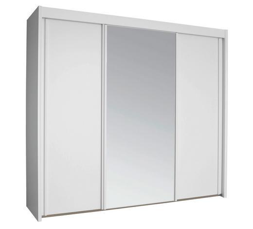 SCHWEBETÜRENSCHRANK in Weiß  - Weiß, KONVENTIONELL, Glas/Holzwerkstoff (250/223/65cm) - Cantus