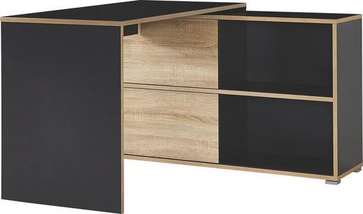 SCHREIBTISCHKOMBINATION Anthrazit, Sonoma Eiche - Anthrazit/Sonoma Eiche, Design (120/76/120cm) - Carryhome