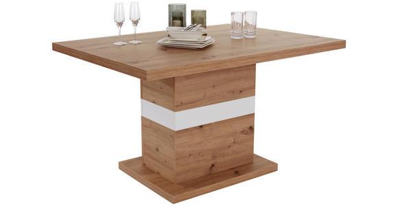 Esstisch Kashmir 140 - Eichefarben/Weiß, MODERN, Holz (140/76,7/90cm) - James Wood