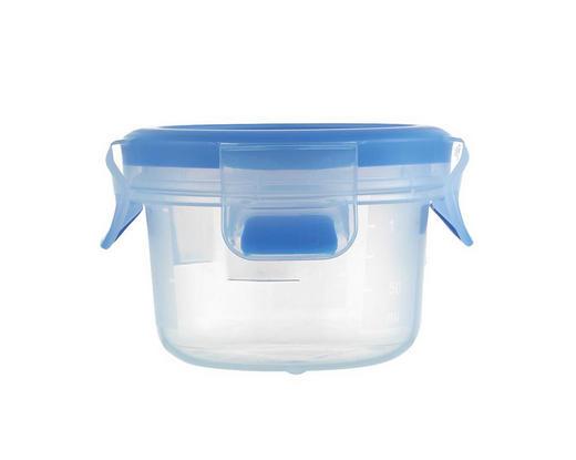 FRISCHHALTEDOSE 0,15 L - Blau/Transparent, Basics, Kunststoff (9.2/9.2/5.9cm) - Emsa