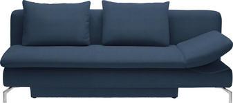 SCHLAFSOFA in Dunkelblau Textil - Alufarben/Dunkelblau, Design, Textil/Metall (213/90/94cm) - DIETER KNOLL