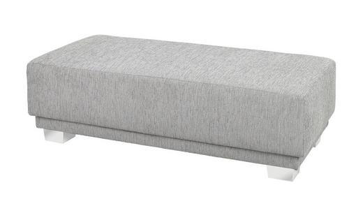 HOCKER Webstoff Grau - Chromfarben/Grau, Design, Kunststoff/Textil (130/38/65cm) - Carryhome