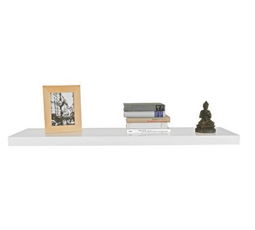 POLICA ZIDNA - bijela, Design, drvo (100/4/24cm) - Xora