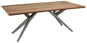 ESSTISCH in Holz, Metall 200/100/76 cm - Silberfarben/Akaziefarben, LIFESTYLE, Holz/Metall (200/100/76cm) - Landscape