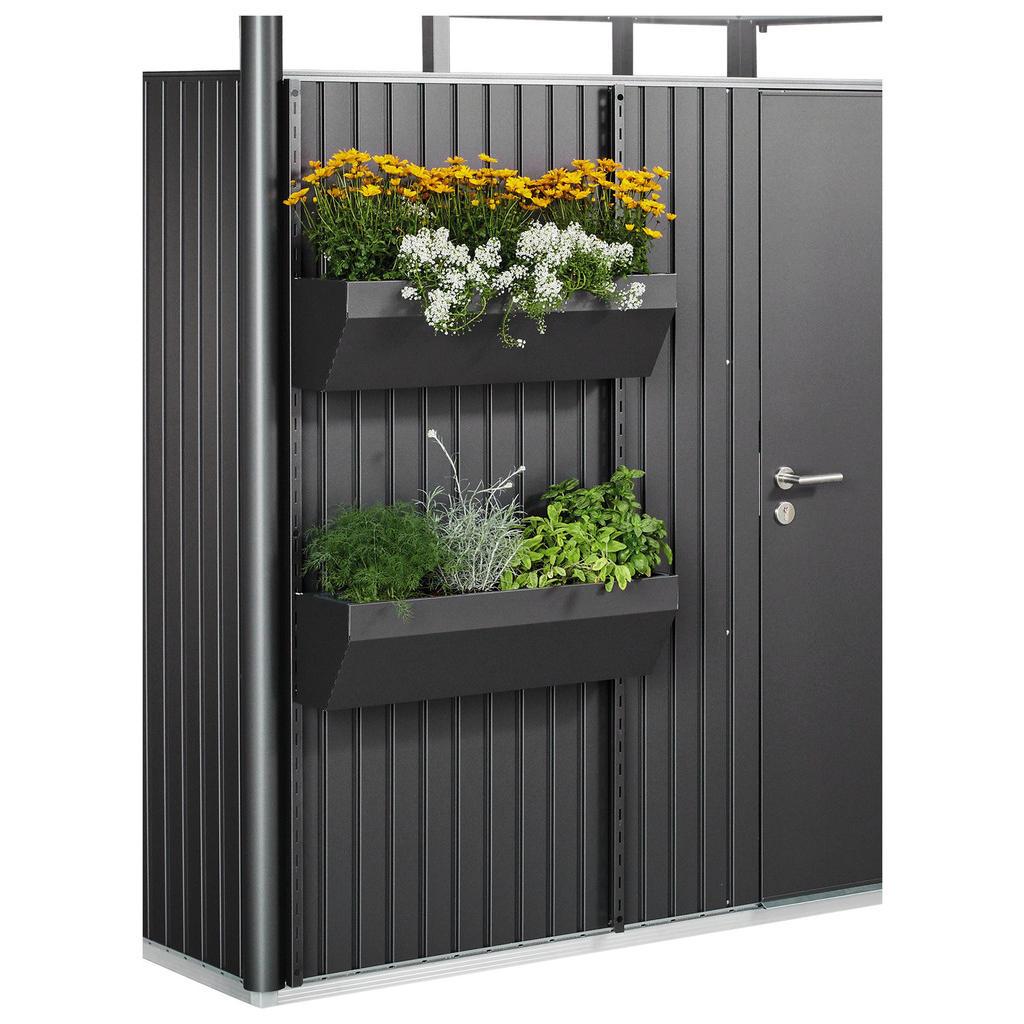 Blumenkasten für Gerätehäuser