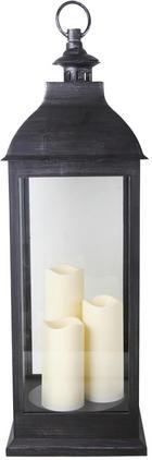 LYKTA - svart, Lifestyle, glas/plast (24/71/24cm) - Ambia Home