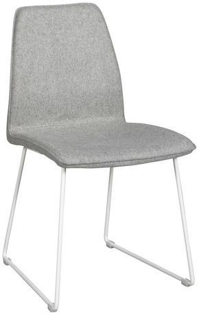 STOL - vit/ljusgrå, Modern, metall/textil (47/88/55cm) - Rowico