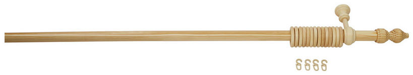 Rundstangengarnitur Halbkiefer, 1-Lfg. - Kieferfarben, KONVENTIONELL, Holz (180cm) - Ombra