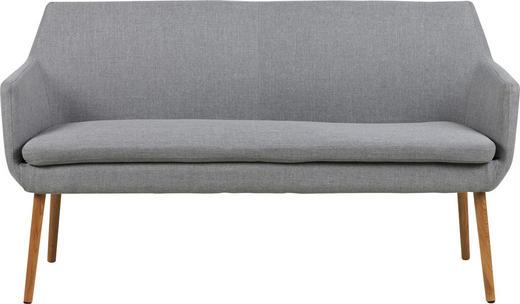 SOFA Hellgrau - Eichefarben/Hellgrau, Design, Holz/Textil (159/86/56cm) - Carryhome