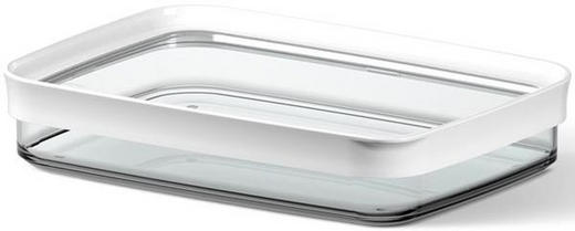 FÖRVARINGSBURK - vit/transparent, Basics, plast (0.70l) - EMSA