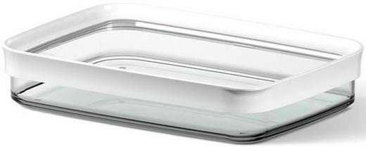 VORRATSDOSE 0,7 L - Transparent/Weiß, Basics, Kunststoff (0.70l) - EMSA