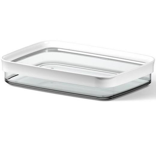 VORRATSDOSE  0,7 l  - Transparent/Weiß, KONVENTIONELL, Kunststoff (0.70l) - Emsa