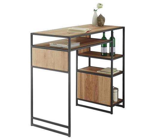 BARTISCH in Holz, Metall - Eichefarben/Schwarz, Design, Holz/Metall (120/105/55cm) - Hom`in
