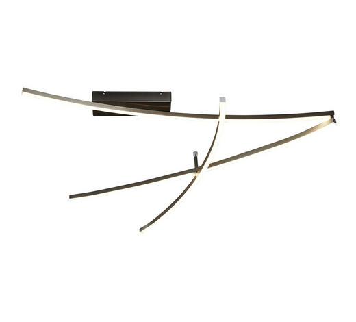 LED-DECKENLEUCHTE   - Nickelfarben, Design, Kunststoff/Metall (180/80/10cm) - Novel