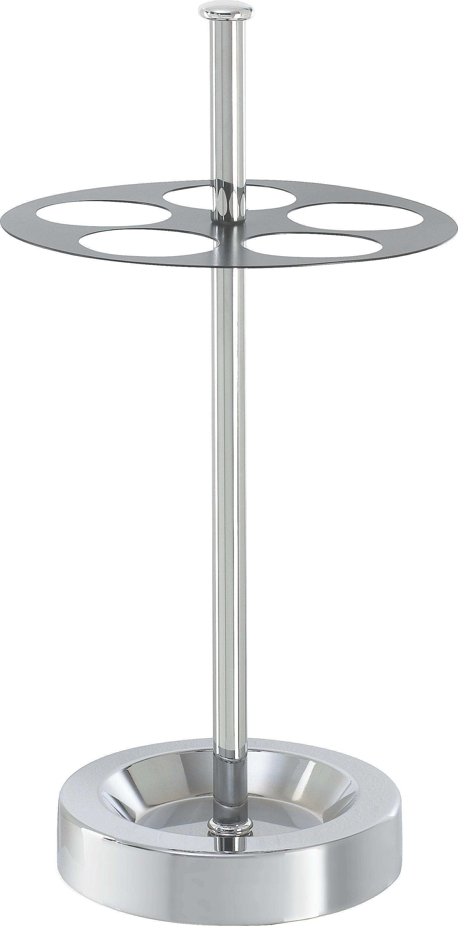 SCHIRMSTÄNDER - Chromfarben/Schwarz, Design, Metall (32/65/32cm)