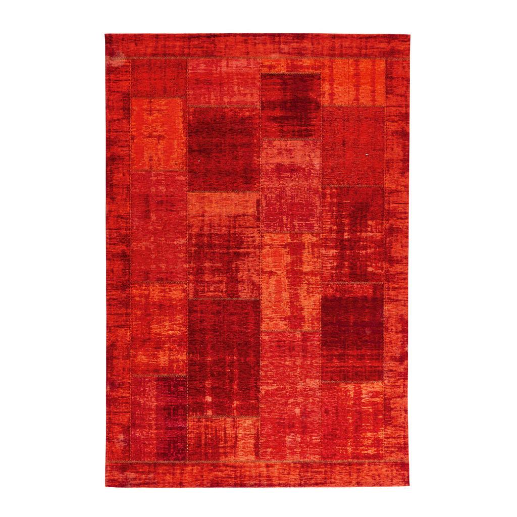 Novel Flachwebeteppich 80/150 cm dunkelrot