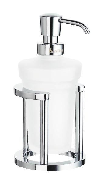 SEIFENSPENDER Glas, Metall - Chromfarben, Basics, Glas/Metall (8,5/18cm)