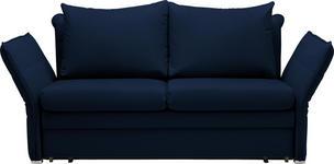 SCHLAFSOFA Blau - Blau/Chromfarben, KONVENTIONELL, Textil/Metall (213/88/91cm) - Novel