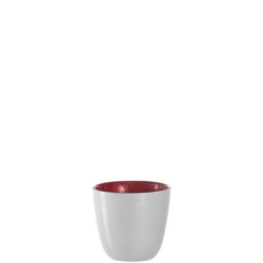 TEELICHTGLAS - Rot/Weiß, Design, Glas (8,00/7,50cm) - Leonardo