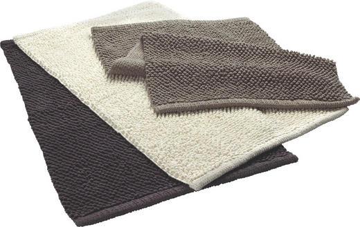 BADTEPPICH in Anthrazit, Taupe, Beige 50/80 cm - Taupe/Anthrazit, Basics, Textil (50/80cm) - Boxxx
