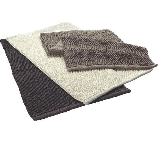 KOBEREC DO KOUPELNY, 50/80 cm, antracitová, šedohnědá, béžová - antracitová/béžová, Basics, textil (50/80cm) - Boxxx