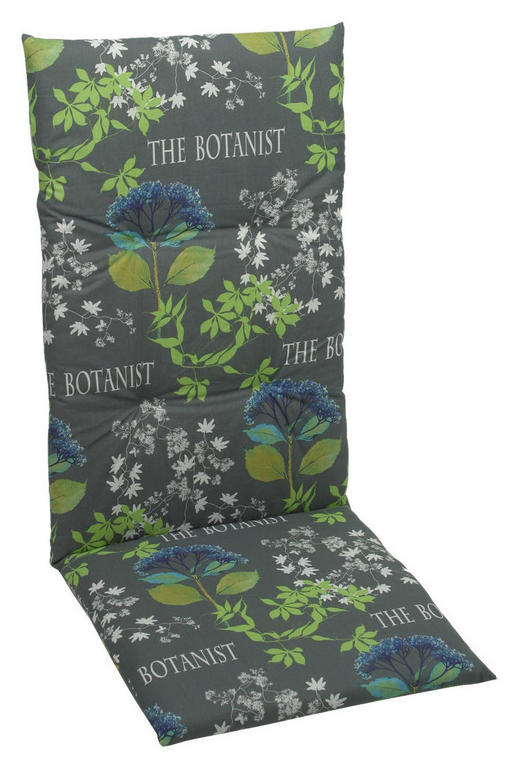 SESSELAUFLAGE Floral - Blau/Grau, Design, Textil (50/118/5cm)