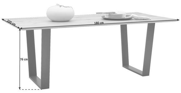 ESSTISCH in Holz 180/100/76 cm - Buchefarben/Schwarz, Design, Holz/Metall (180/100/76cm) - Valnatura