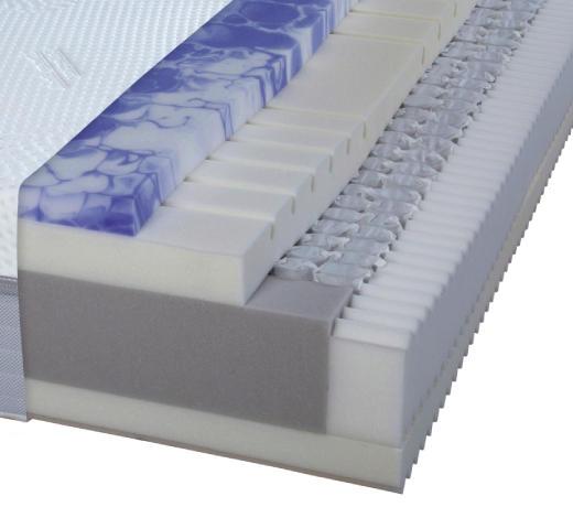TAŠTIČKOVÁ MATRACE, 90/200 cm - bílá, Basics, textil (90/200cm) - Dieter Knoll