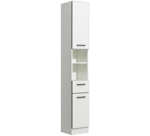 HOCHSCHRANK 30/195,5/33 cm - Anthrazit/Weiß, KONVENTIONELL, Glas/Holzwerkstoff (30/195,5/33cm) - Xora