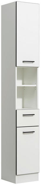 VISOKA OMARA 30/195,5/33 cm - bela/antracit, Konvencionalno, umetna masa/steklo (30/195,5/33cm) - Xora