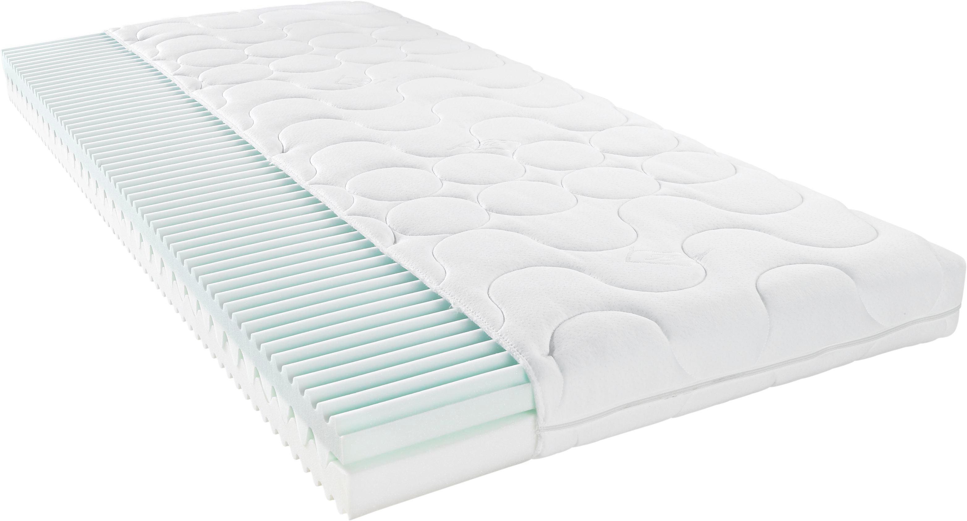 Komfortschaumkern KOMFORTSCHAUMMATRATZE 120/200 cm - Weiß, Basics, Textil (120/200cm) - SLEEPTEX