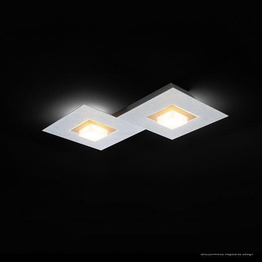 LED-DECKENLEUCHTE - Champagner/Alufarben, MODERN, Metall (40/30/5cm)