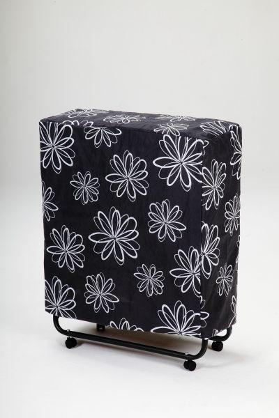 KLAPPBETT Metall, Textil - Schwarz/Weiß, MODERN, Textil/Metall (80/42/185cm) - CARRYHOME