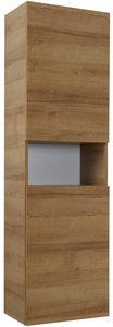VISOKI ORMAR - Boja hrasta, Dizajnerski, Staklo/Pločasti materijal (45/168/43cm) - Sadena