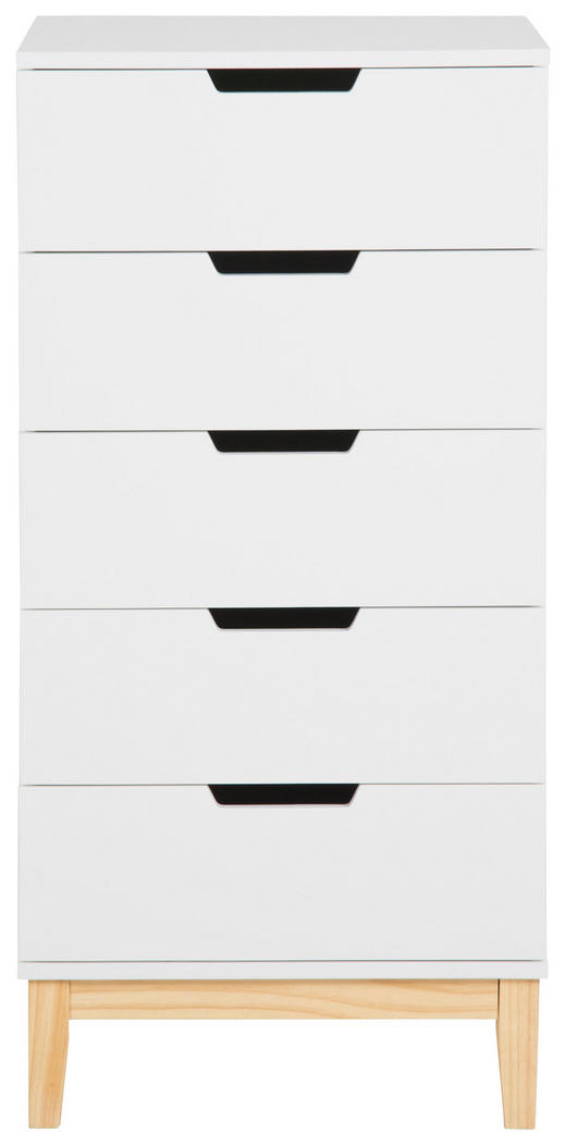 KOMMODE 50/105/40 cm - Weiß/Kieferfarben, Design, Holz (50/105/40cm) - Carryhome
