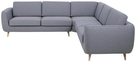 WOHNLANDSCHAFT Flachgewebe - Blau/Grau, KONVENTIONELL, Holz/Kunststoff (282/282cm) - Carryhome