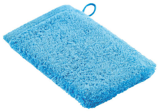 WASCHHANDSCHUH  Blau - Blau, Basics, Textil (16/22cm) - CAWOE