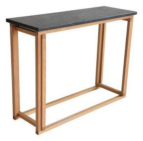 AVLASTNINGSBORD - grå/svart, Klassisk, trä/sten (100/35/75cm)