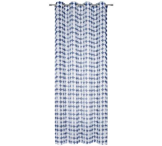 ÖSENVORHANG halbtransparent - Blau/Weiß, Trend, Textil (135/245cm) - Esposa