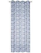ZAVESA Z OBROČKI  pol prosojno  135/245 cm   - modra/bela, Trend, tekstil (135/245cm) - Esposa