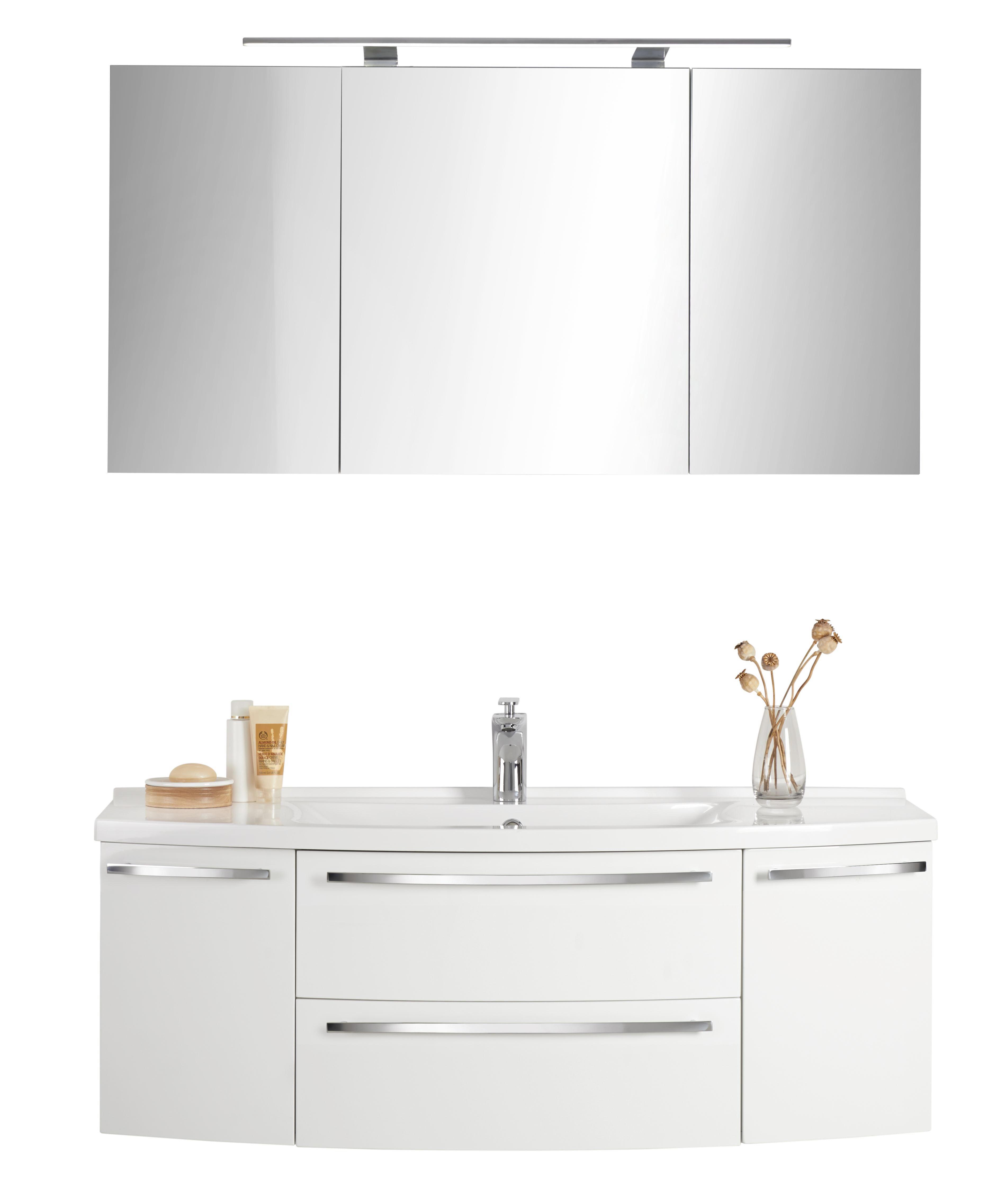 BADEZIMMER Weiß   Weiß, Design, Stein (120cm)   NOVEL