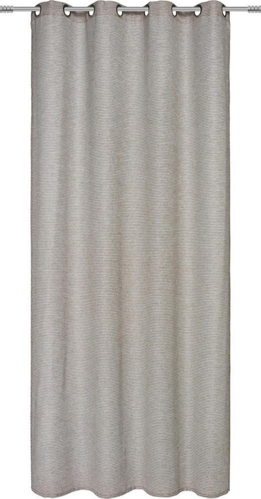ÖSENSCHAL  halbtransparent   140/245 cm - Taupe, Basics, Textil (140/245cm) - Esposa