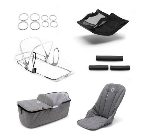 KINDERWAGENAUSSTATTUNG - Grau, Design, Textil (64/110/90cm) - Bugaboo