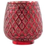 Windlicht Balthild - Beere, KONVENTIONELL, Glas (10,5/11,5cm) - Ombra