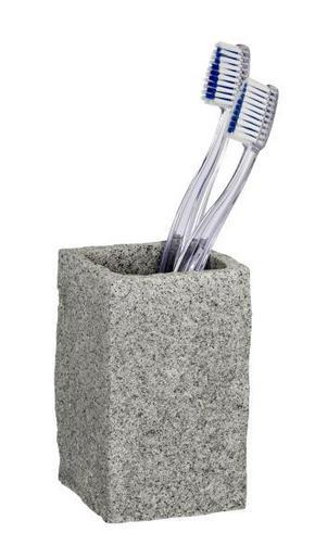 TANDBORSTMUGG - grå, Basics, plast (6/6/10,5cm)
